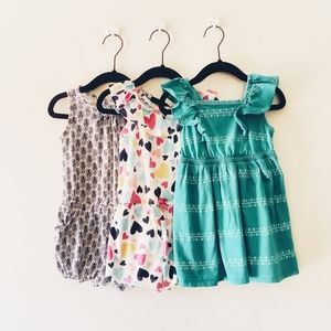 Old Navy Girls Rompers and Dress 2T Bundle